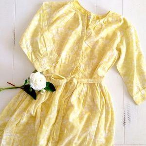 GAP Yellow & White Floral Pattern Cotton Dress (4)